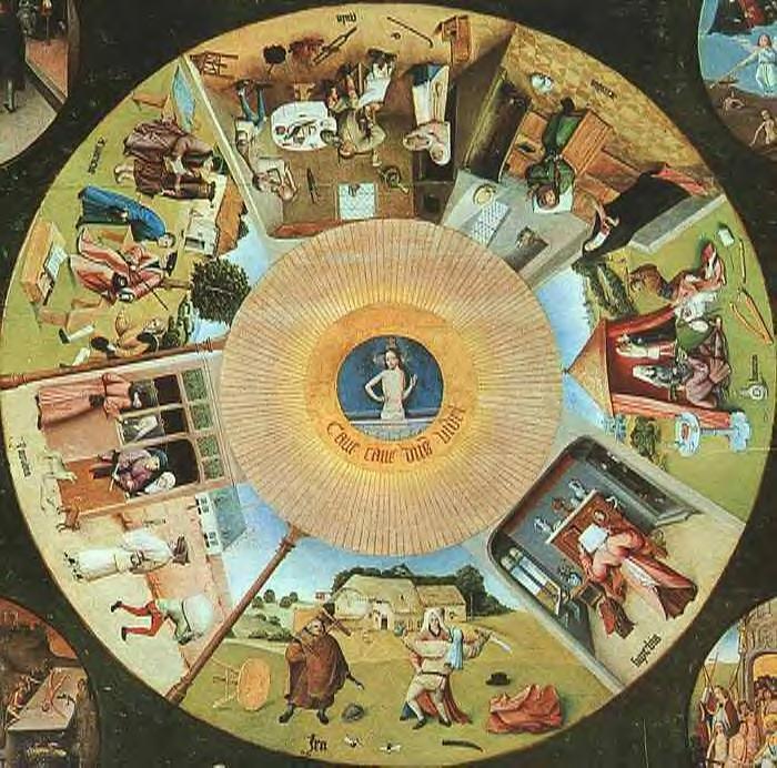 Bosch E os sete pecados capitais