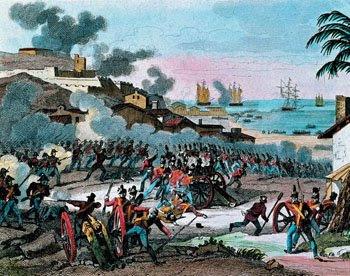 Paus e pedras contra baionetas e canhões
