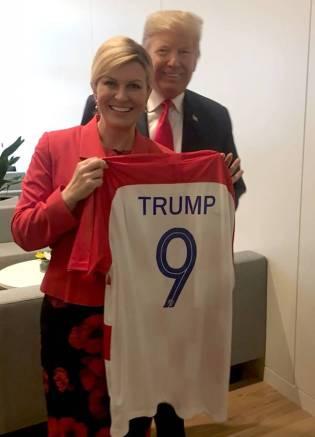 a nazista presidente da croácia e o fascista alaranjado gestor estadunidense, unhas e dedos