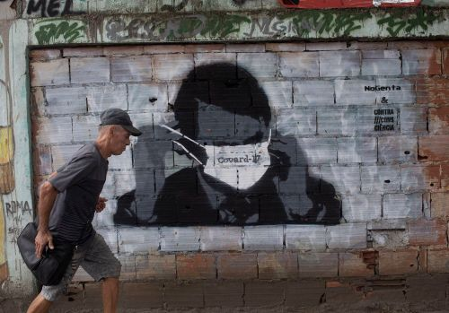 Grafite de bolsonaro covard 17
