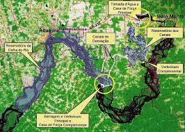 imagem de belo monte feita do satélite